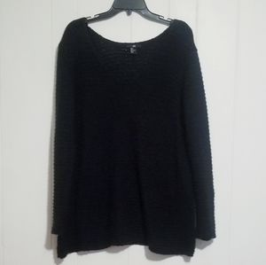 H&M Womens Black Sweater Size Large